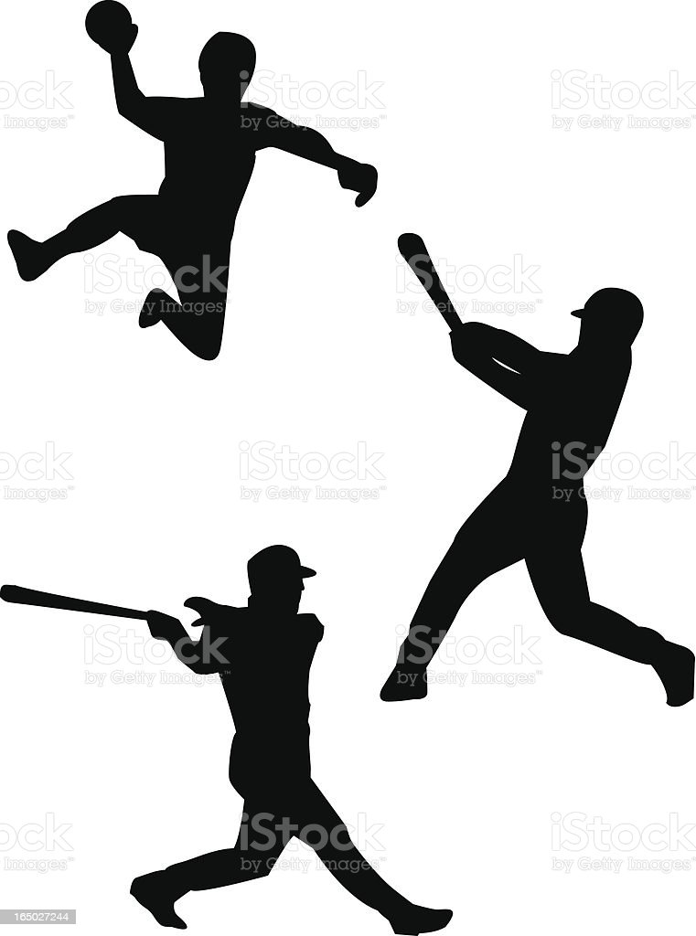 Handball, baseball and softball royalty-free stock vector art