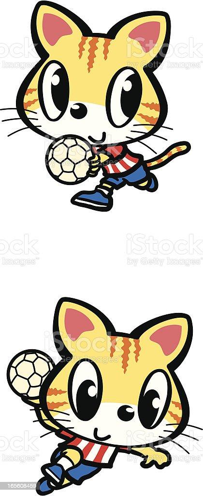 Handball royalty-free stock vector art