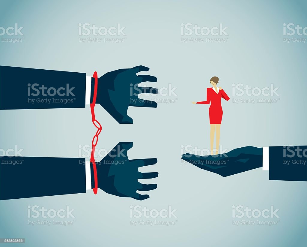 Handcuff vector art illustration