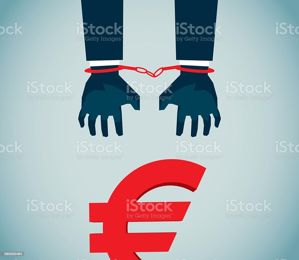 Handcuff, vector art illustration