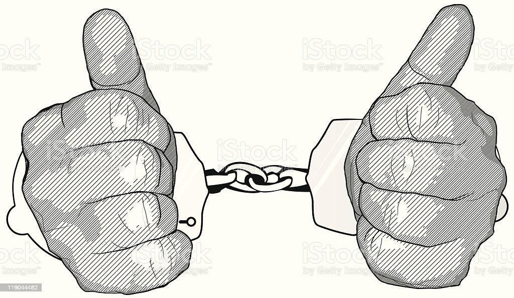 handcuffs royalty-free stock vector art