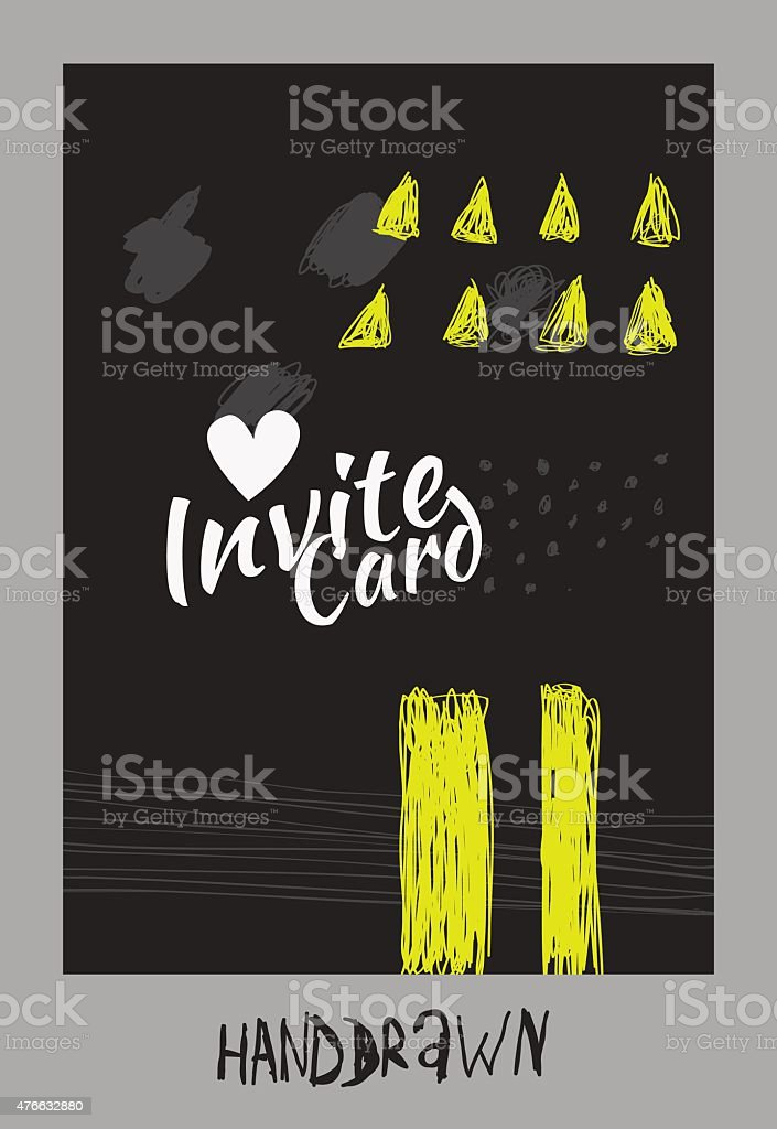 Handdraw card vector art illustration