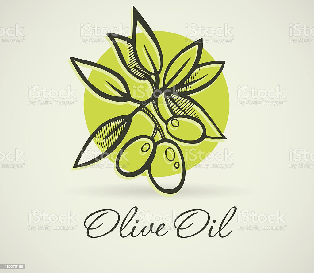Hand-Drawing Olive royalty-free stock vector art