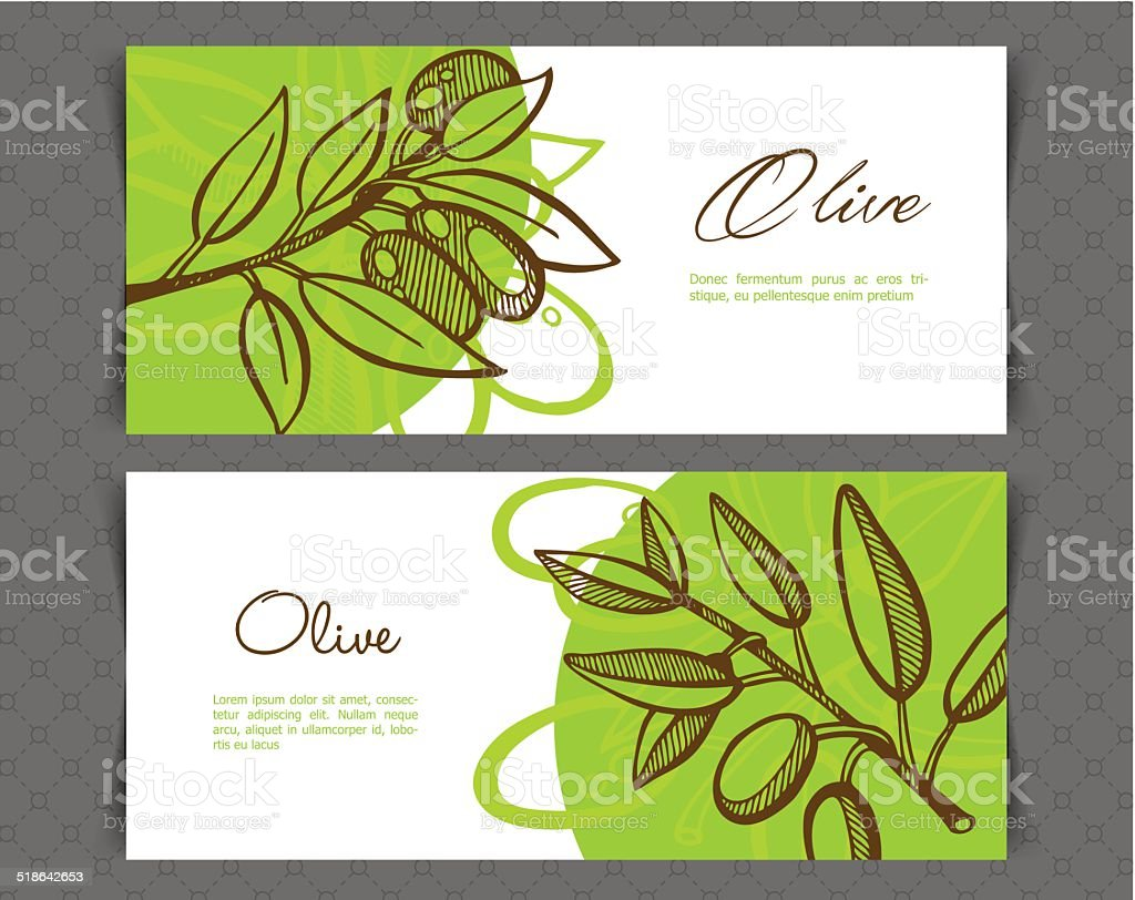 Hand-Drawing Olive vector art illustration