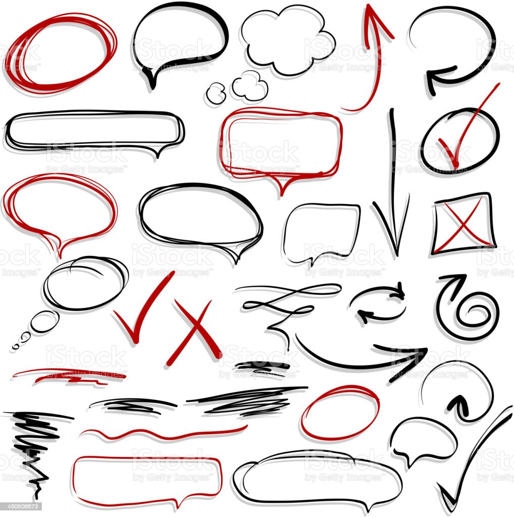 Hand-drawn design elements collection royalty-free stock vector art