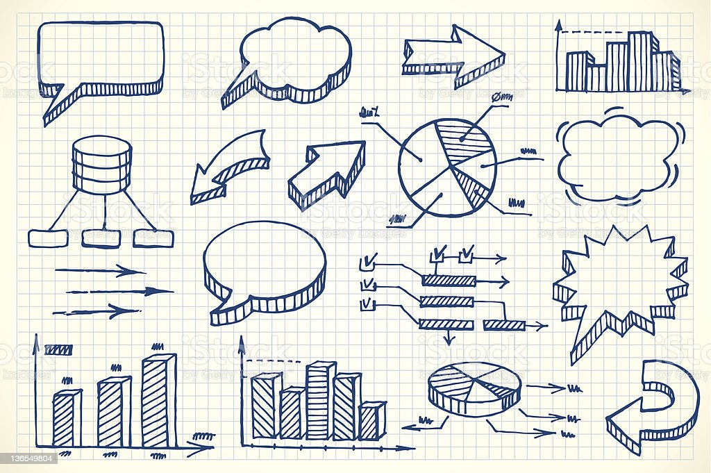 Hand-drawn finance illustration royalty-free stock vector art
