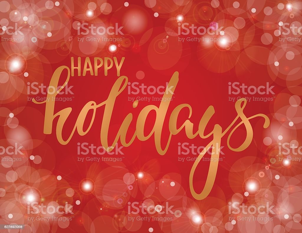 Handdrawn Lettering Happy Holiday Design Holiday Greeting Cards – Greeting Cards and Invitations