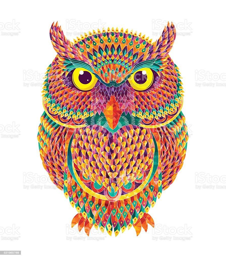 Handdrawn Owl Vector Illustration stock vector art ...