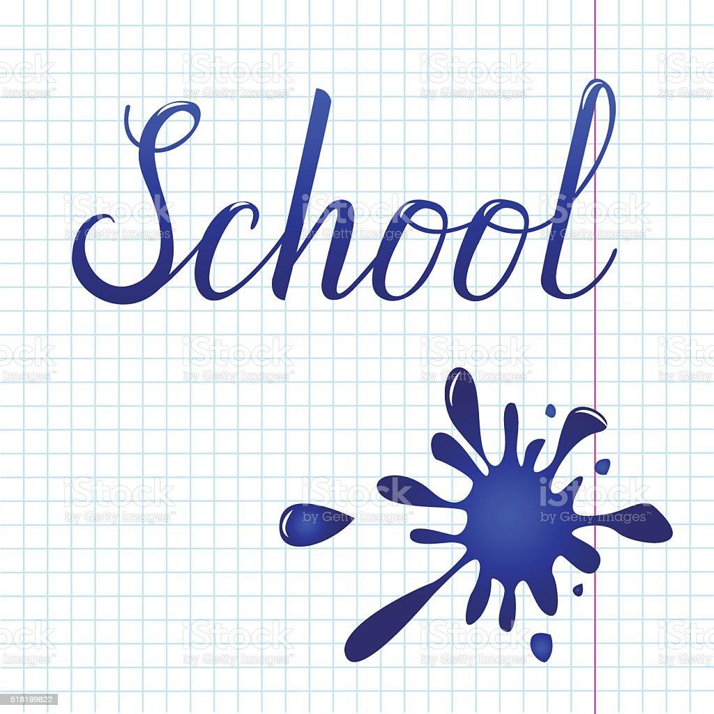 École dessinées à la main stock vecteur libres de droits libre de droits