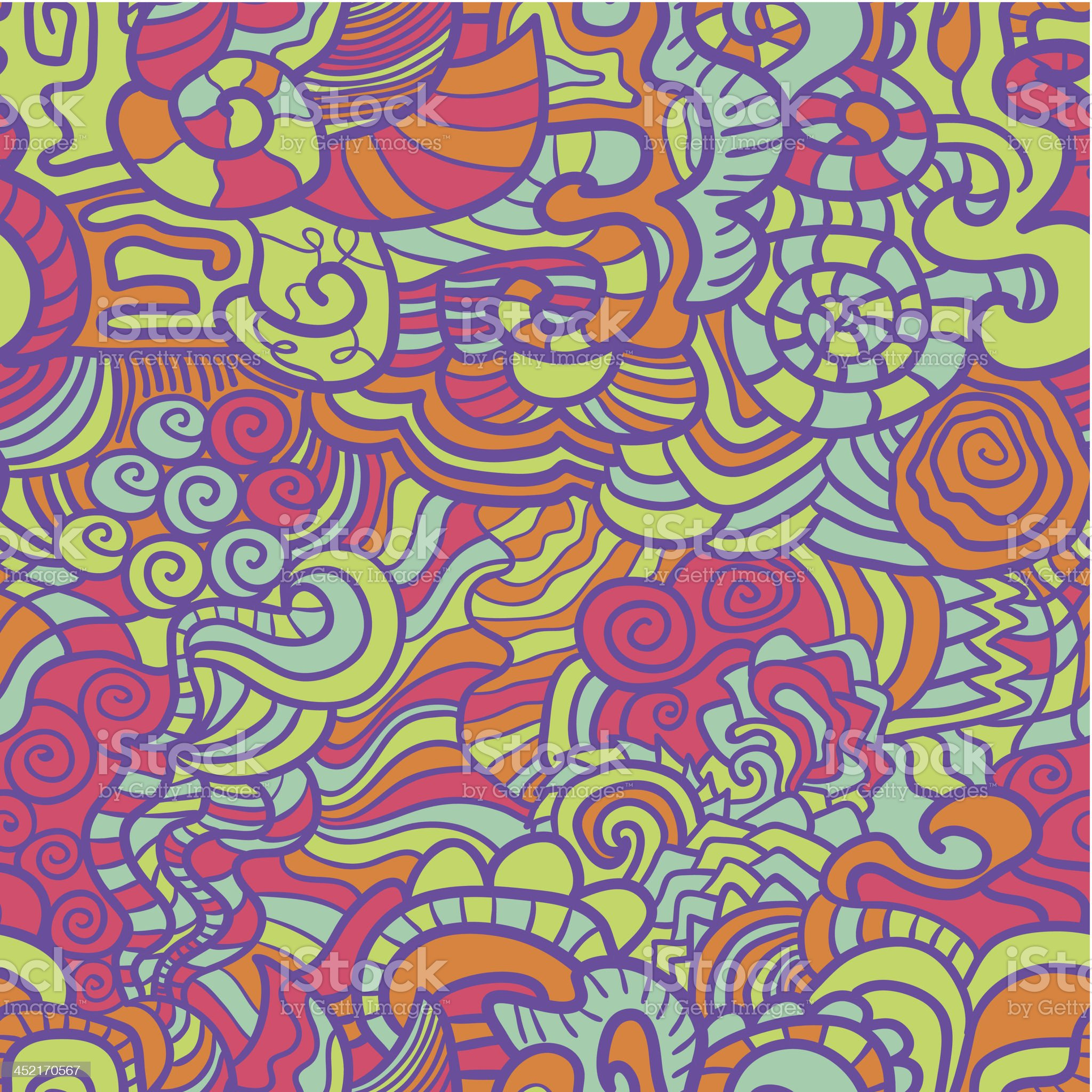 Hand-drawn seamless pattern royalty-free stock vector art