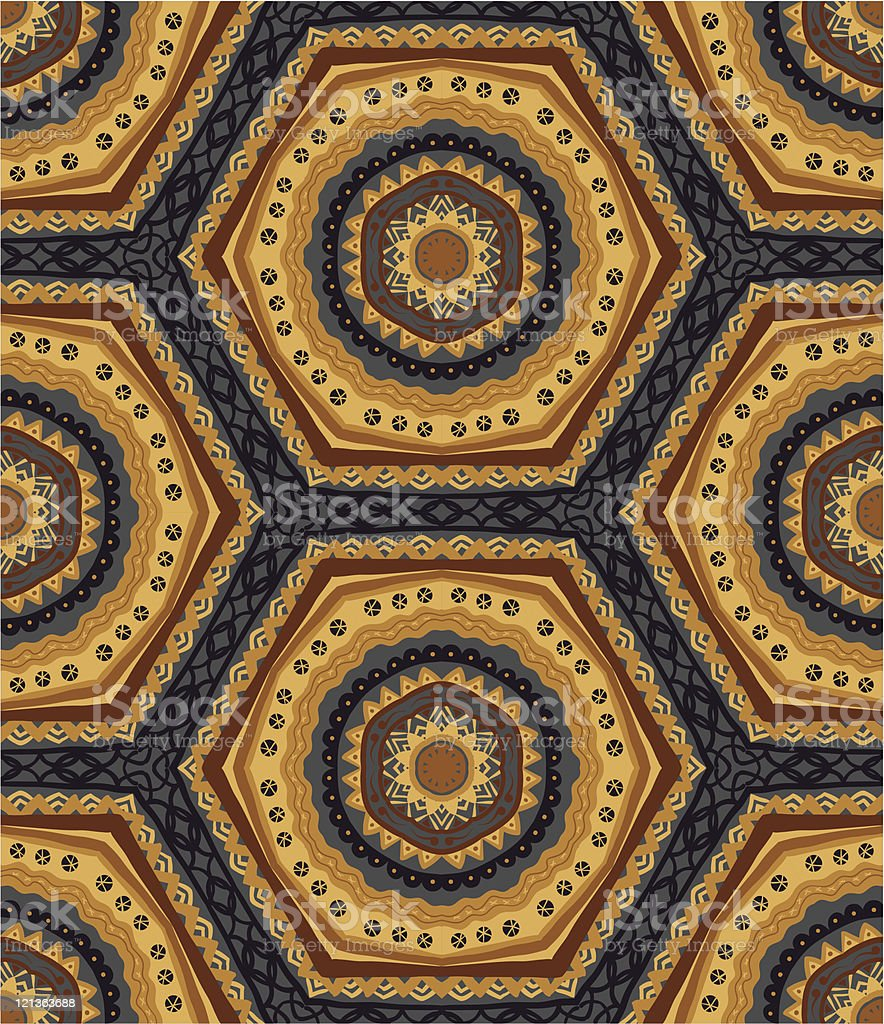 Handdrawn seamless wallpaper royalty-free stock vector art