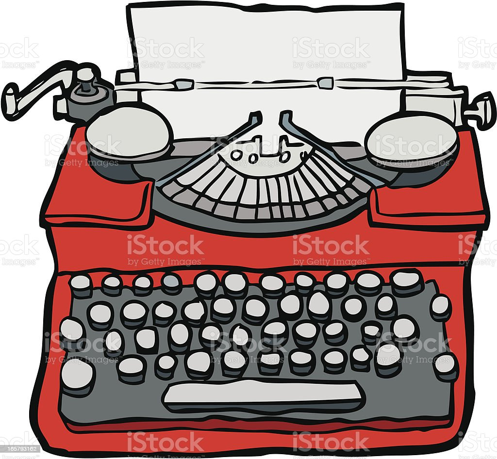 Hand-drawn Typewriter royalty-free stock vector art