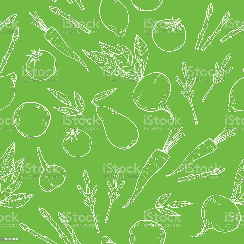 Hand-drawn vector illustration. Seamless pattern vector art illustration