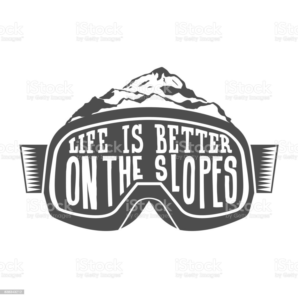 Snowboarding motivation quotes. Typographic Art for Poster Print...