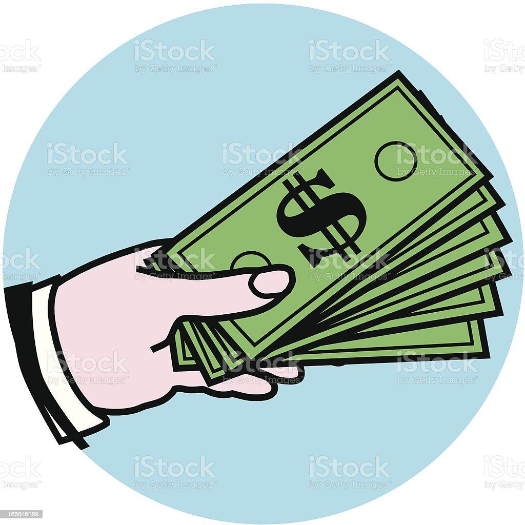 handful of money royalty-free stock vector art