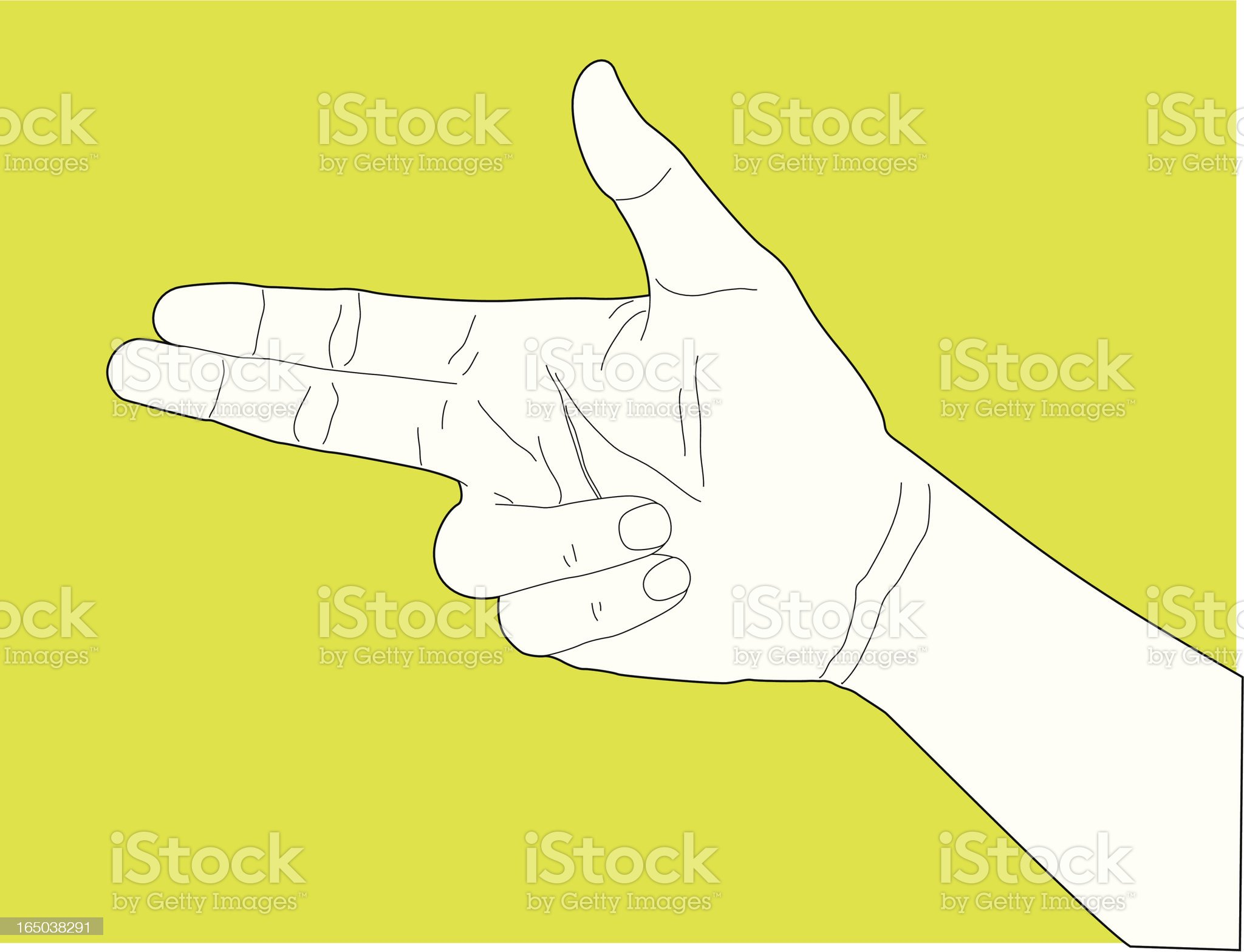 Handgun Hand Gesture royalty-free stock vector art