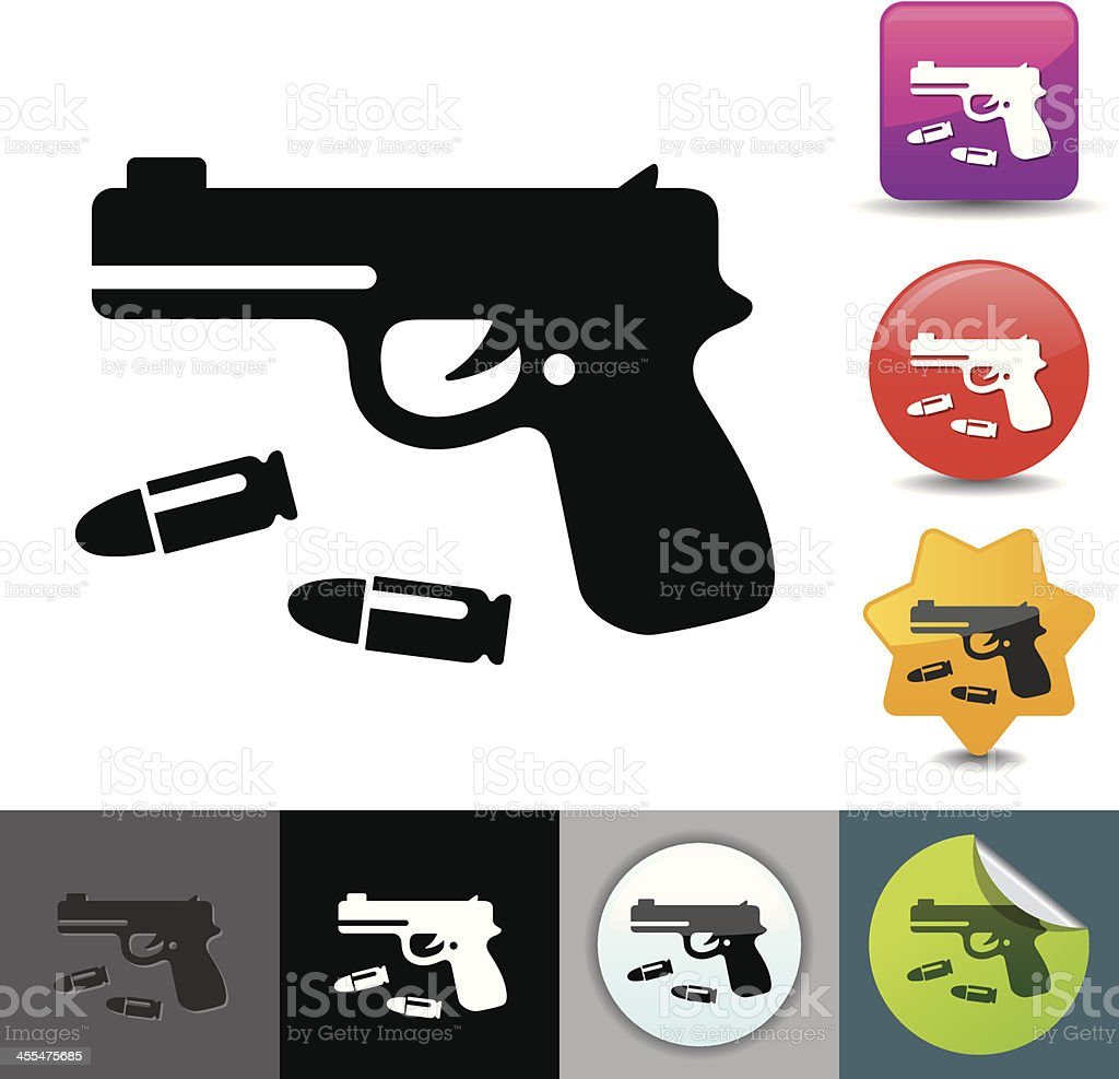 Handgun icon | solicosi series royalty-free stock vector art