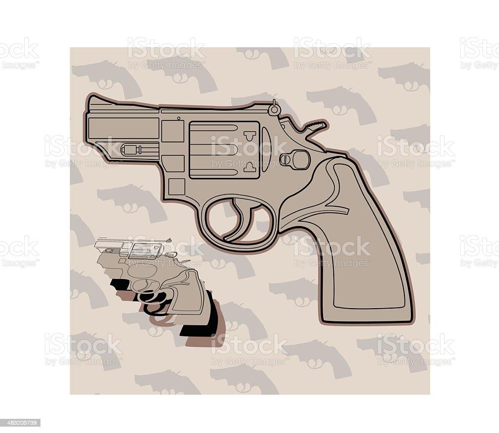 Handgun (Layered Vector) royalty-free stock vector art