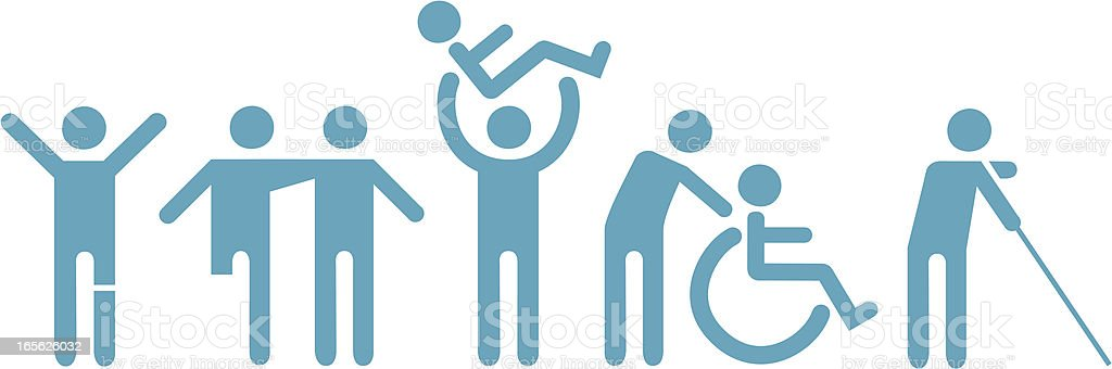 Handicap Icons vector art illustration