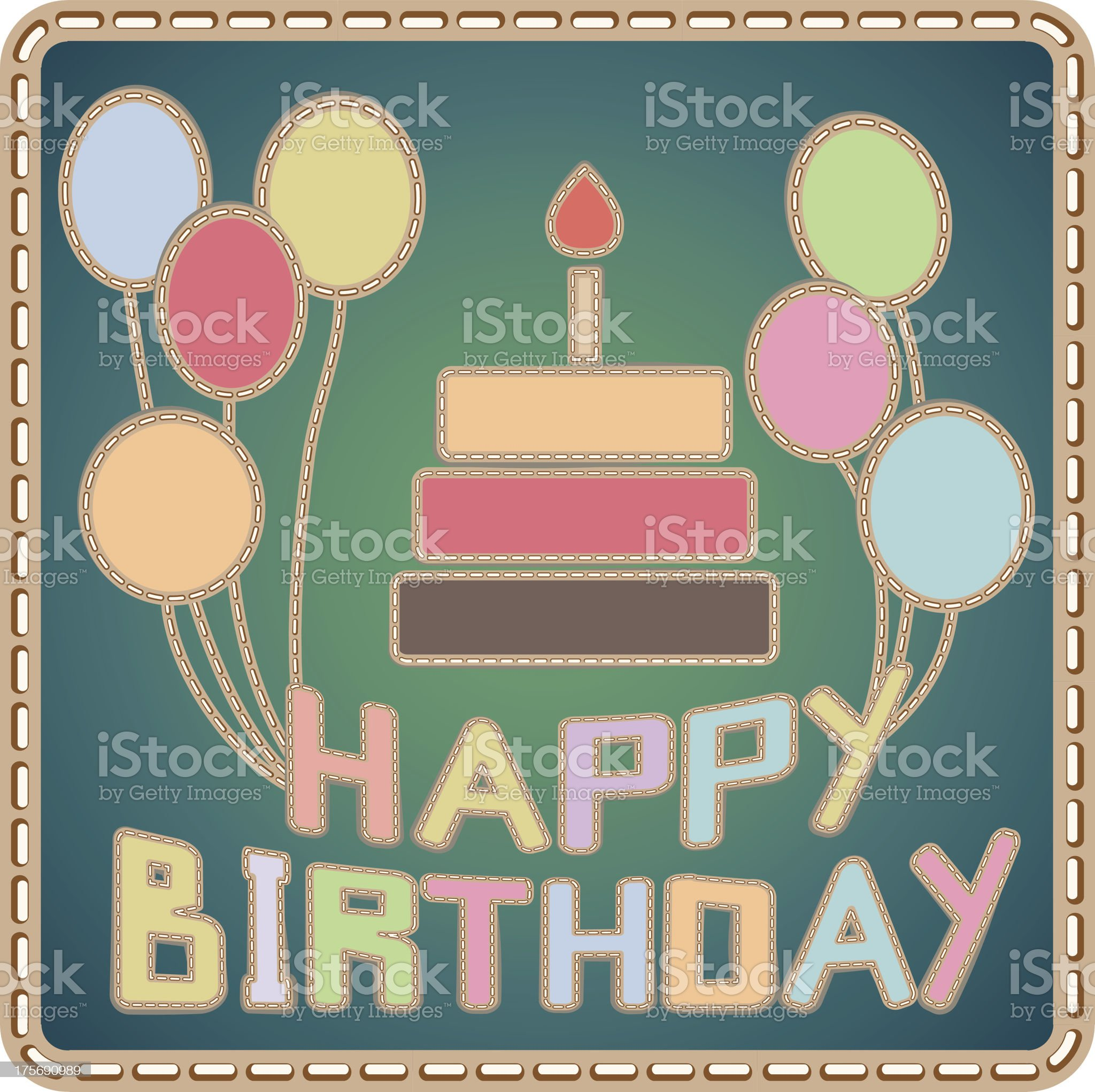 hand-made birthday card royalty-free stock vector art