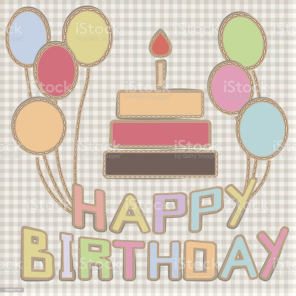 hand-made birthday card royalty-free stock vector art