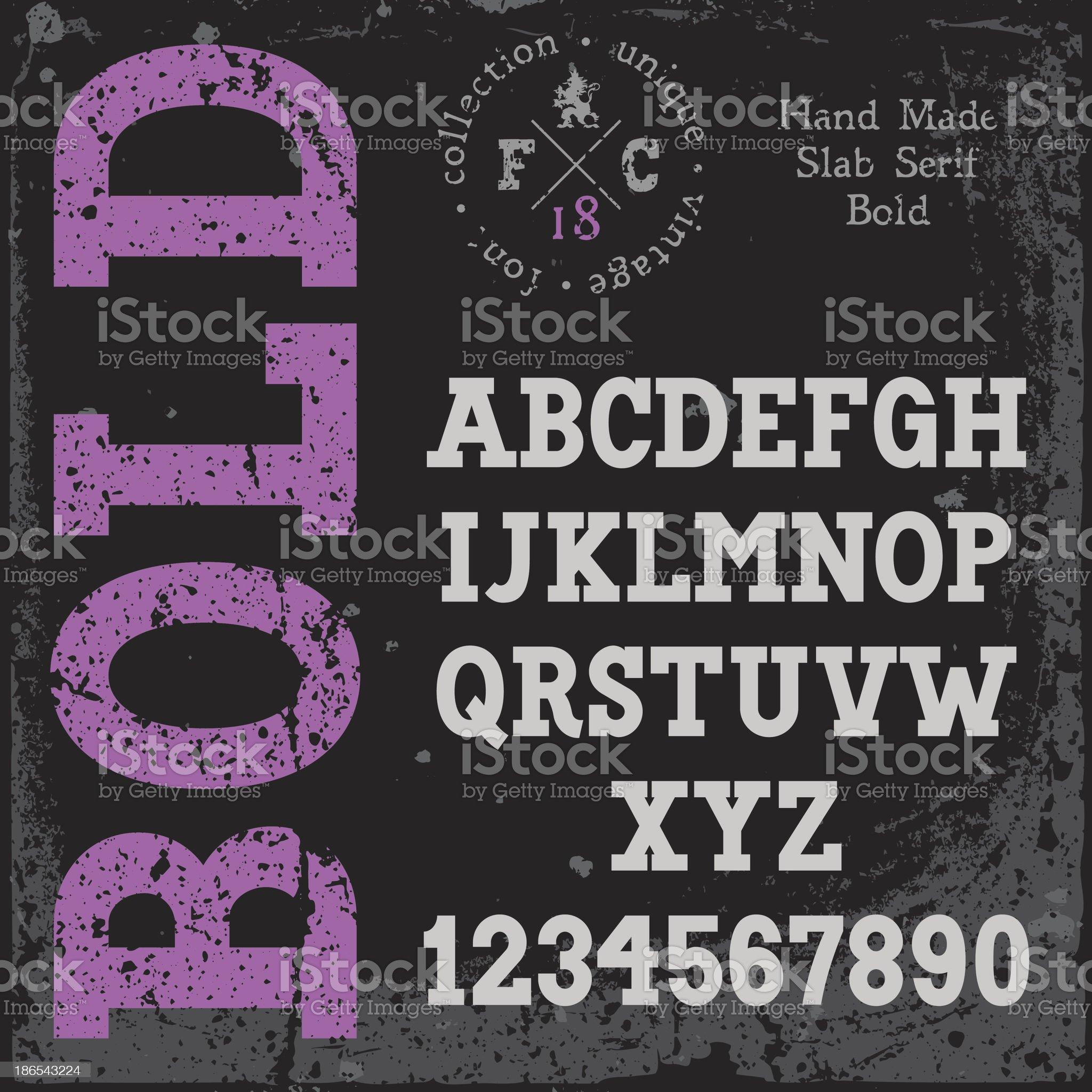 Handmade retro font royalty-free stock vector art