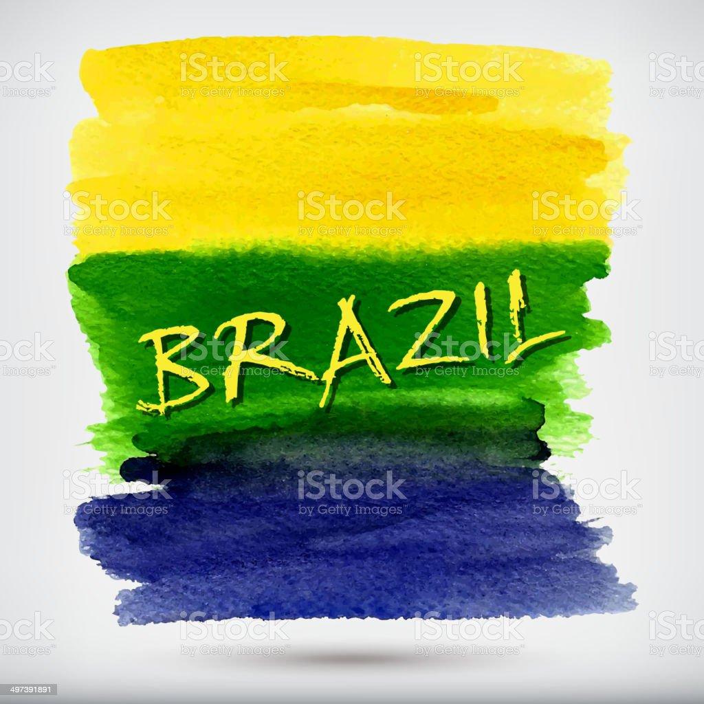 Handmade watercolor brazil flag brasil stock photos freeimages com - Handmade Watercolor Brazil Flag Background Brasil Summer Royalty Free Stock Vector Art