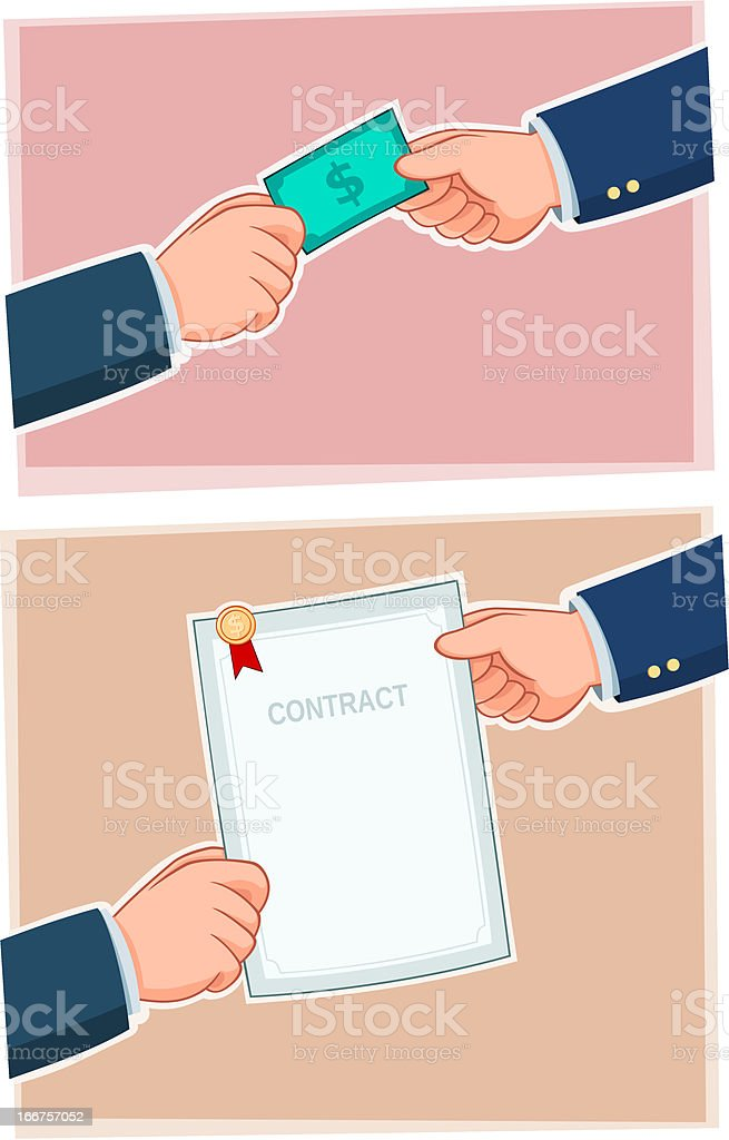 handover royalty-free stock vector art
