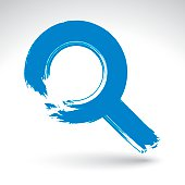 magnifying glass icon blue - photo #39