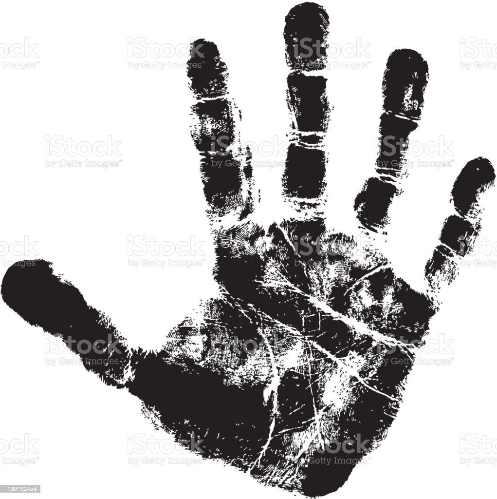 handprint royalty-free stock vector art