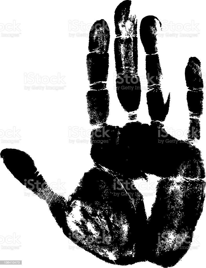 handprint vector art illustration
