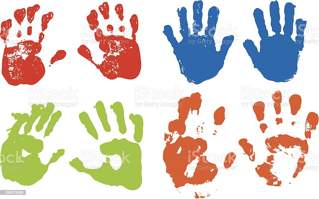 Handprints vector art illustration