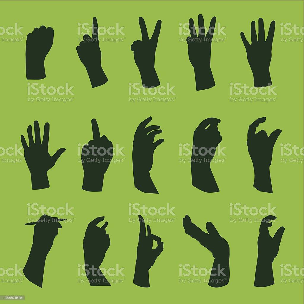Hands 2 royalty-free stock vector art