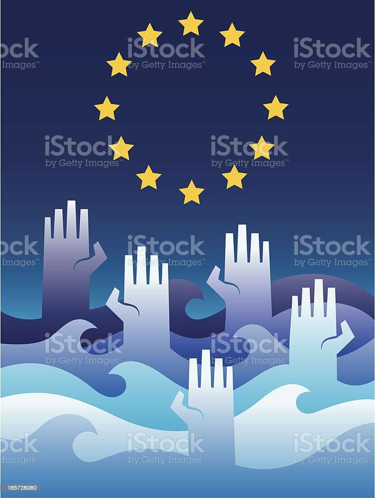 Hands and stars royalty-free stock vector art
