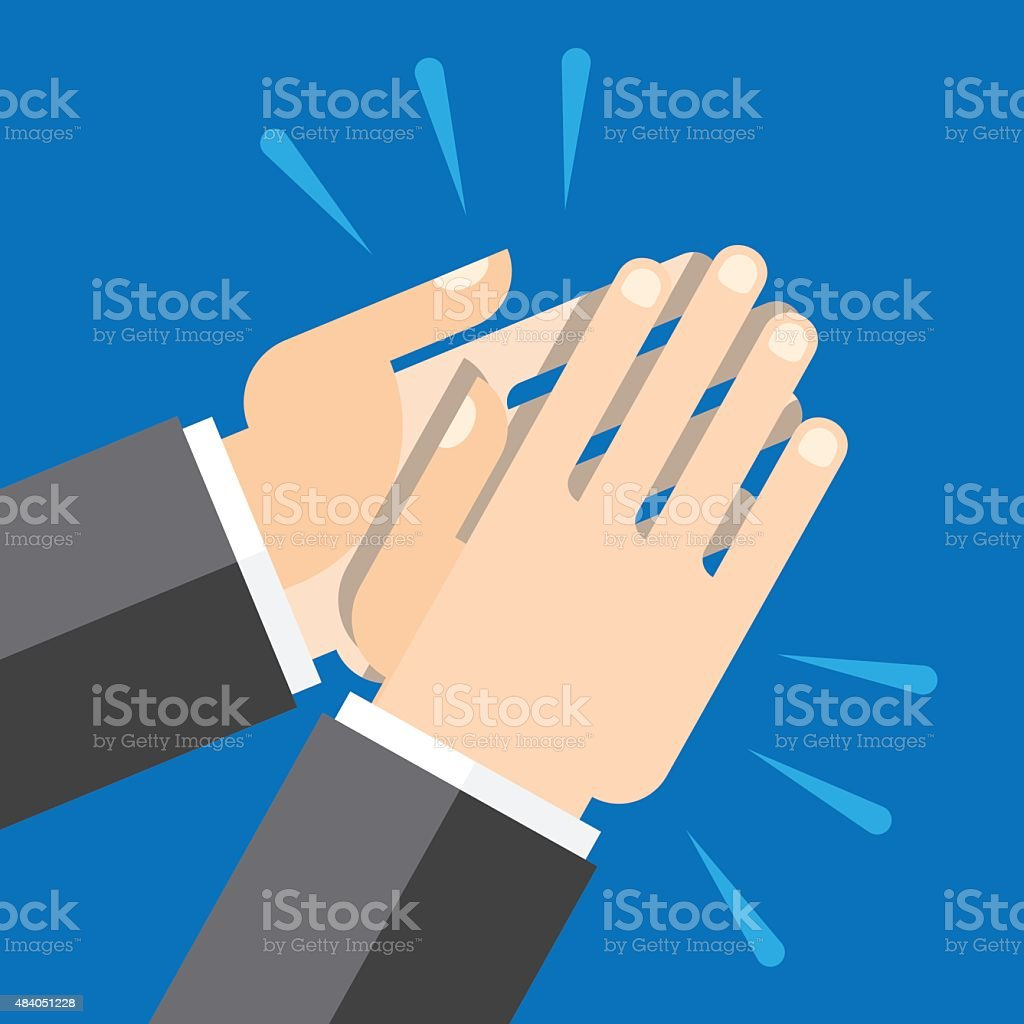 hands clapping, applause vector art illustration