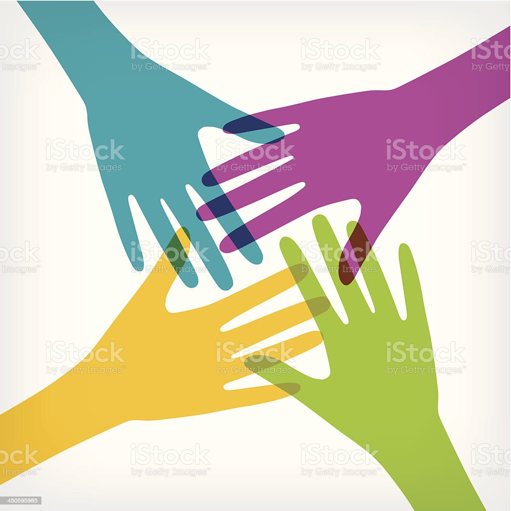 Hands connecting royalty-free stock vector art