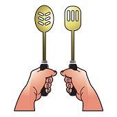 hands & cooking utensils