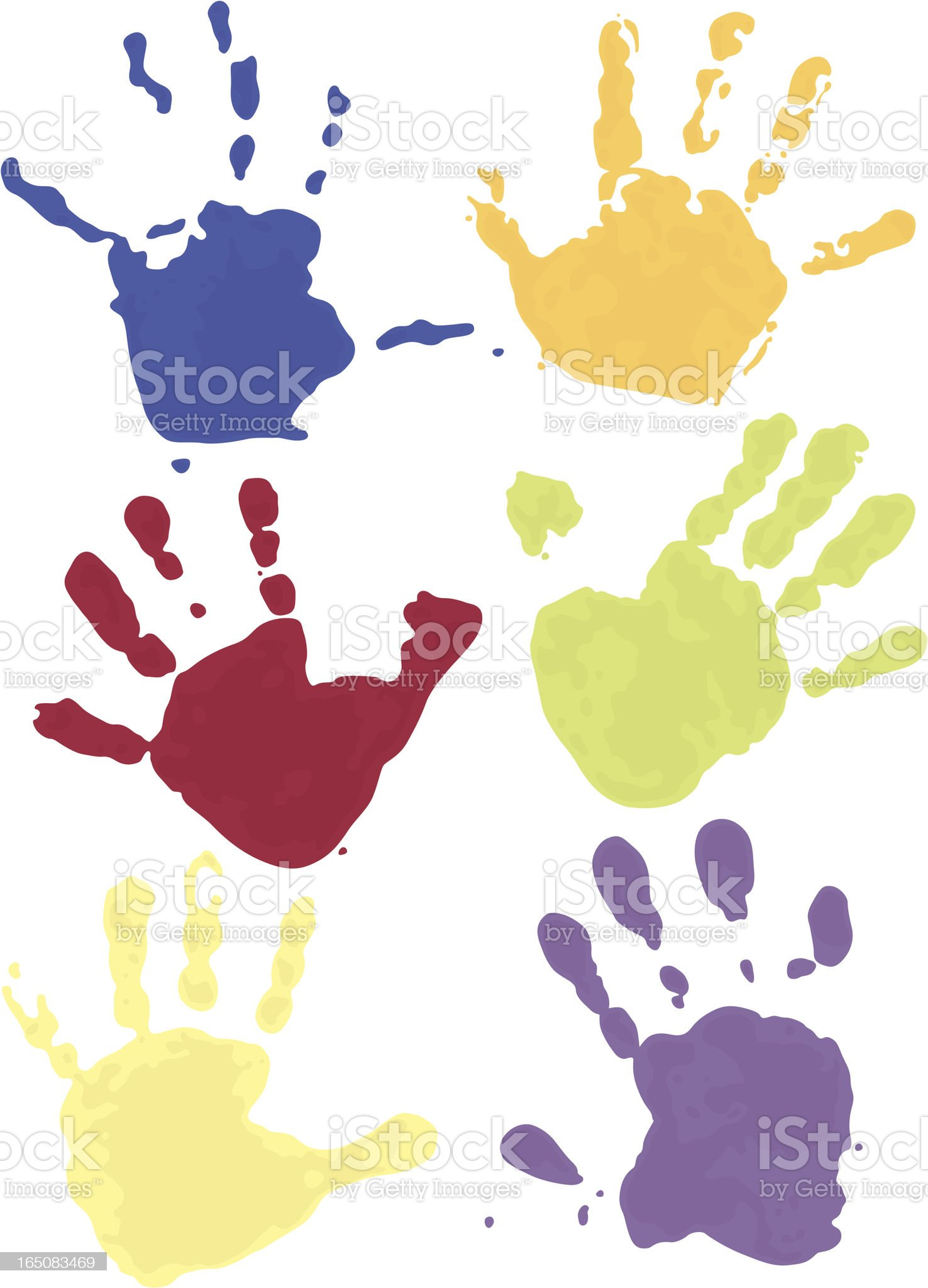 Hands Down royalty-free stock vector art