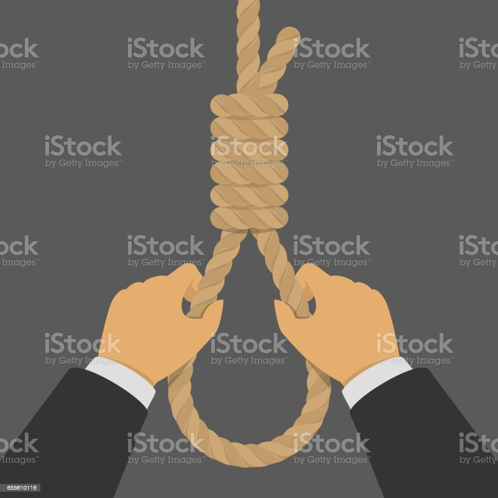 Hands hold the hanging loop. vector art illustration