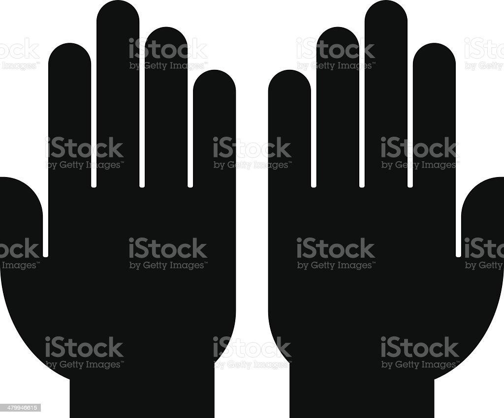 Hands icon vector art illustration