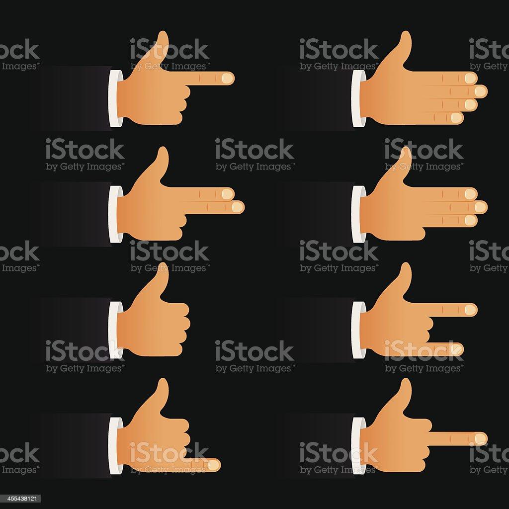 Hands icons vector art illustration