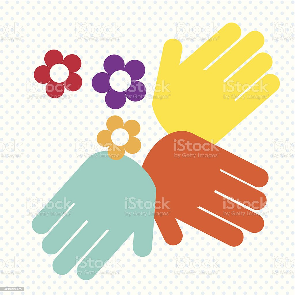 Hands Icons vector art illustration