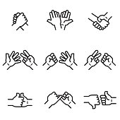 Hands in Action Icons