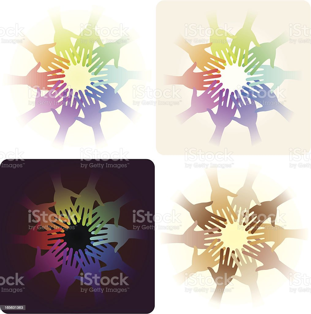 Hands in unity royalty-free stock vector art