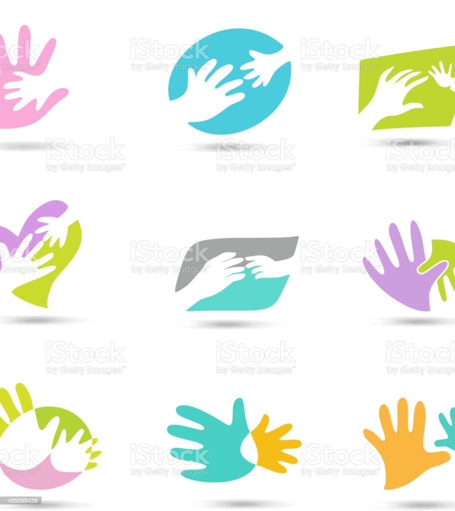 Hands Logo vector art illustration