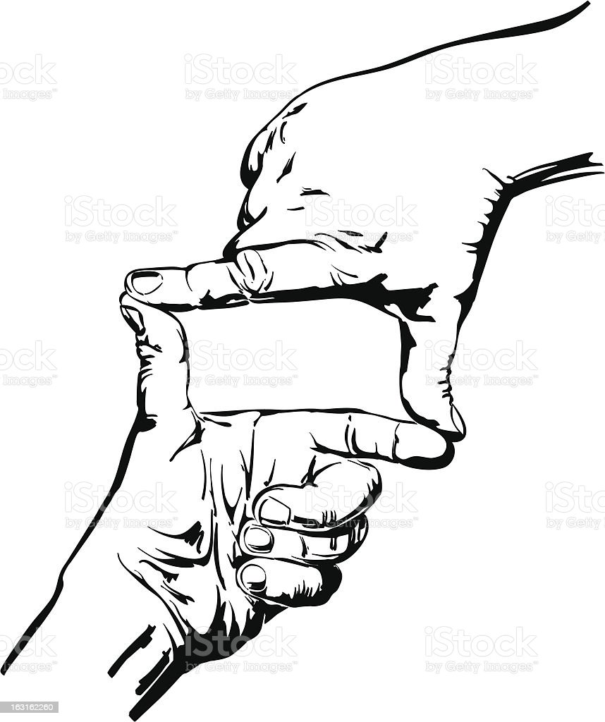 hands making frame isolated royalty-free stock vector art