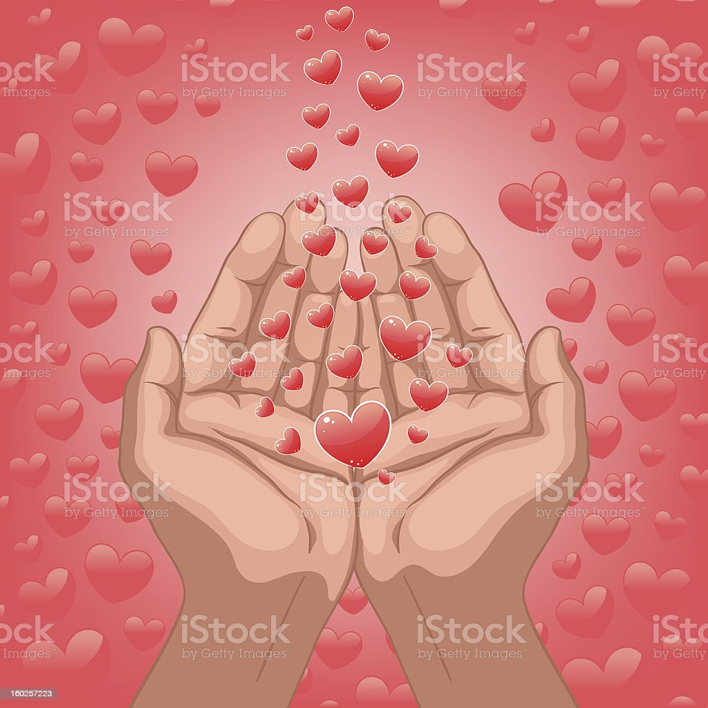 hands of lover royalty-free stock vector art