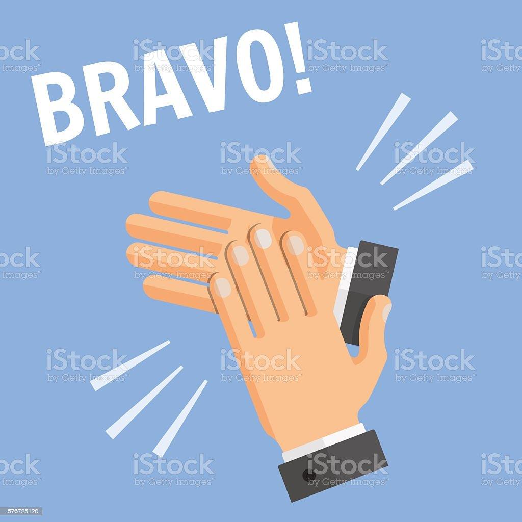 Hands Palm Applause Clapping Bravo Illustration vector art illustration