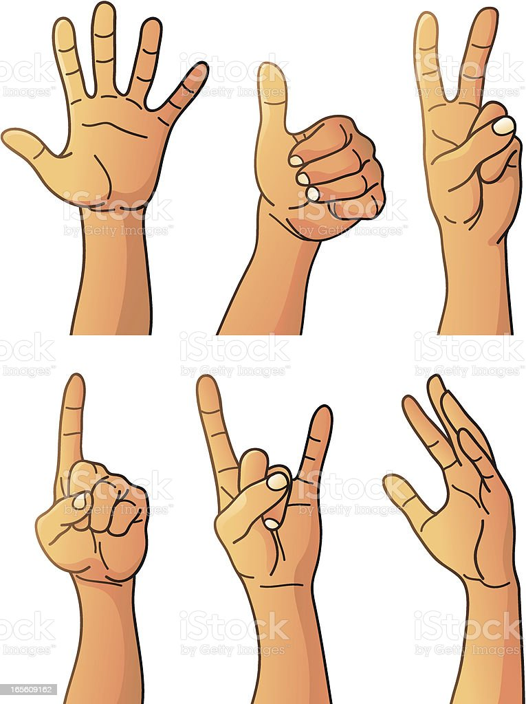 Hands Set Color royalty-free stock vector art