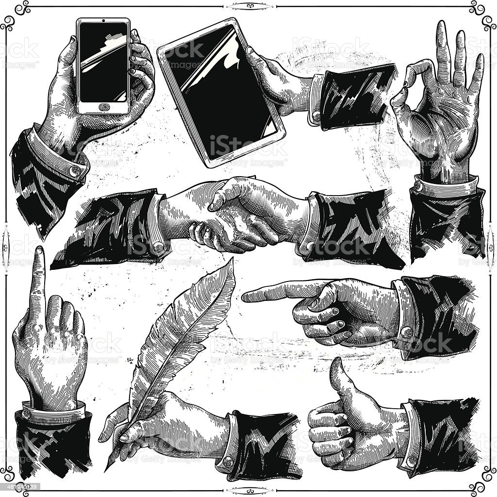 Hands set royalty-free stock vector art